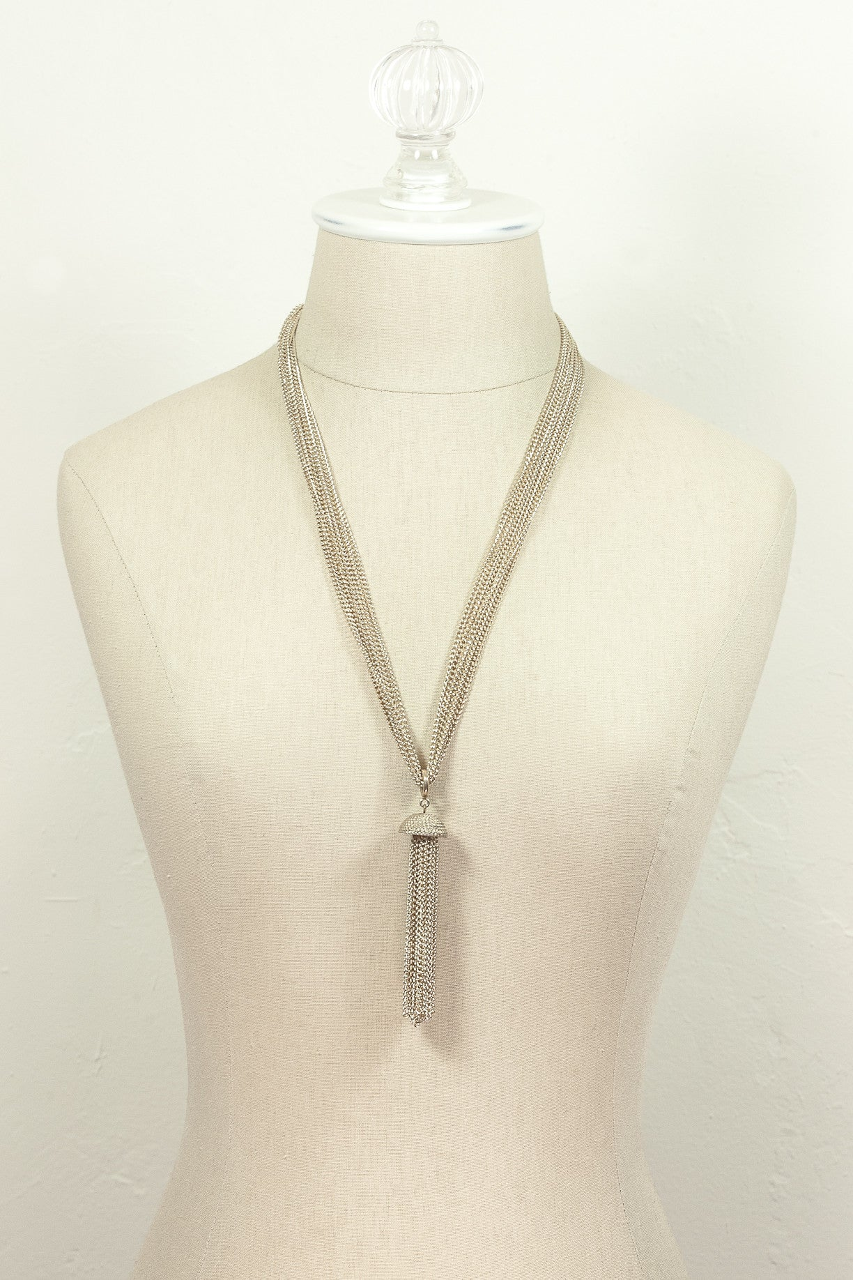 70's__Sarah Coventry__Gold Tassel Necklace