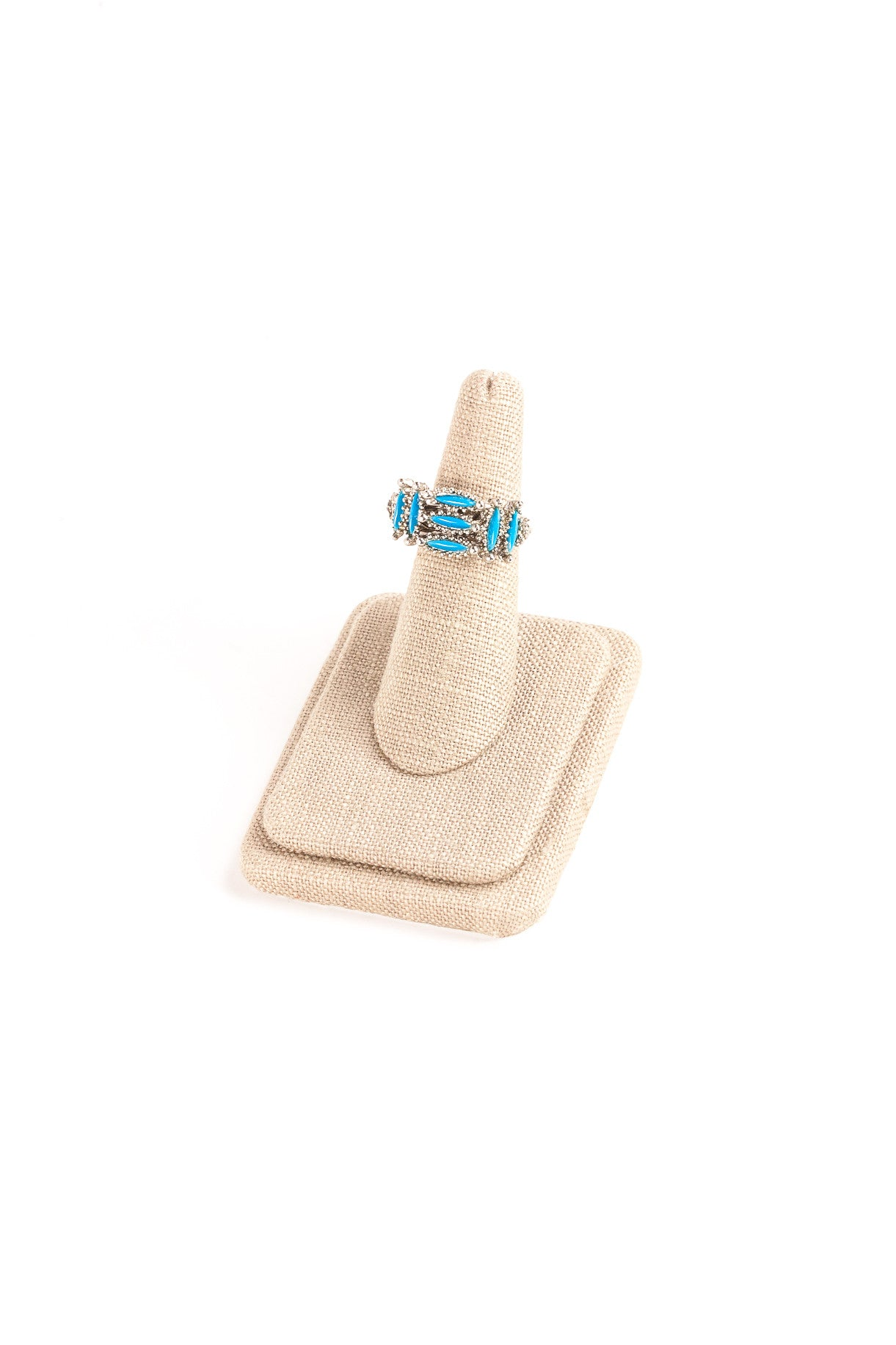 70's__Vintage__Turquoise Rectangles Ring