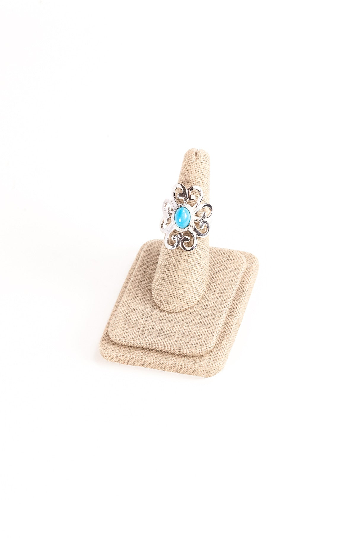 70's__Sarah Coventry__Swirl Turquoise Ring
