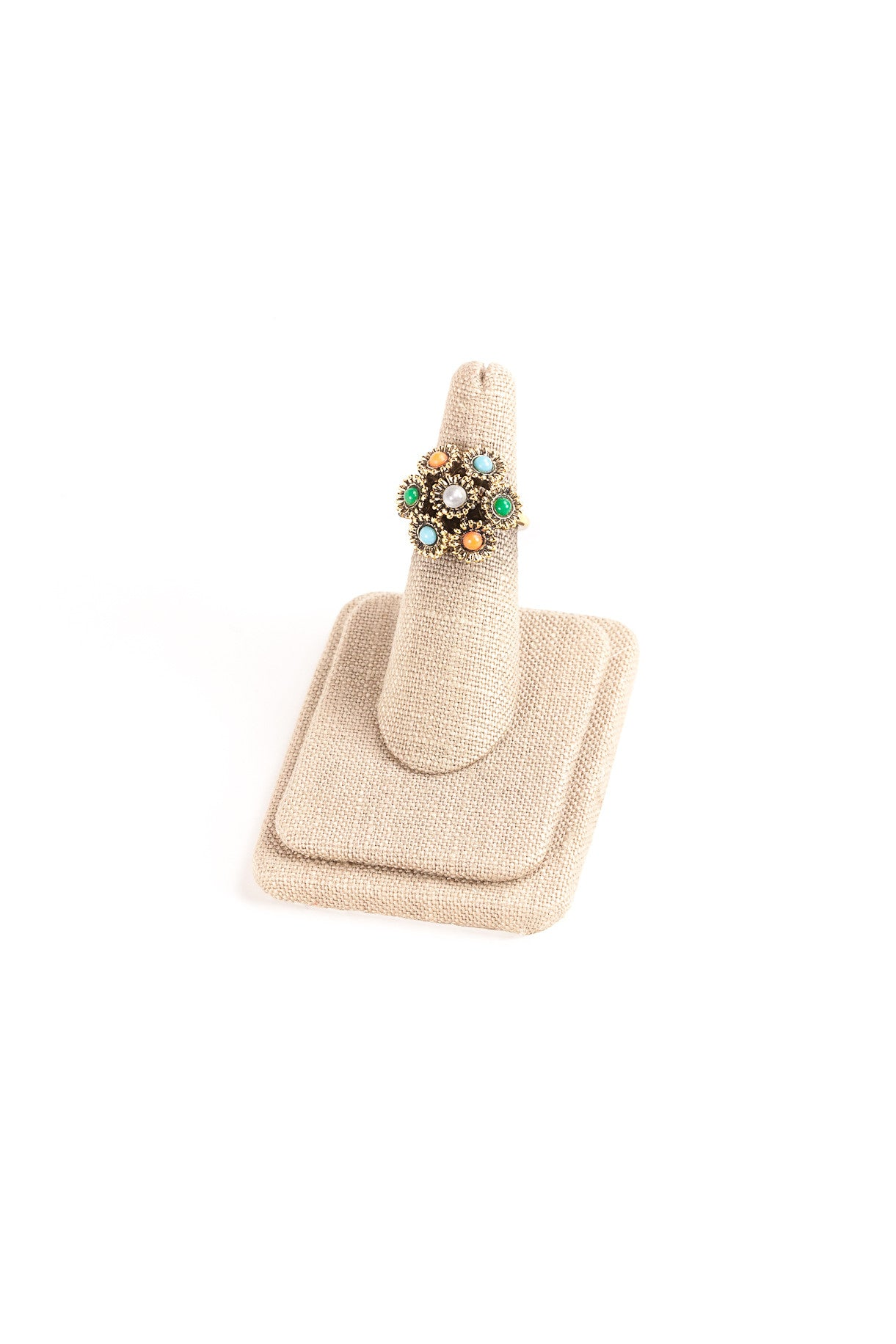 70's__Sarah Coventry__Mixed Stones Ring