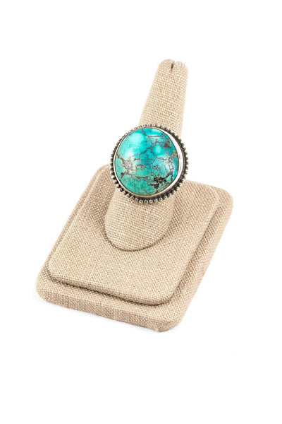 70's__Vintage__Boho Turquoise Sterling Ring
