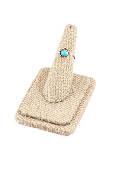 50's__Vintage__Dainty Turquoise Sterling Ring