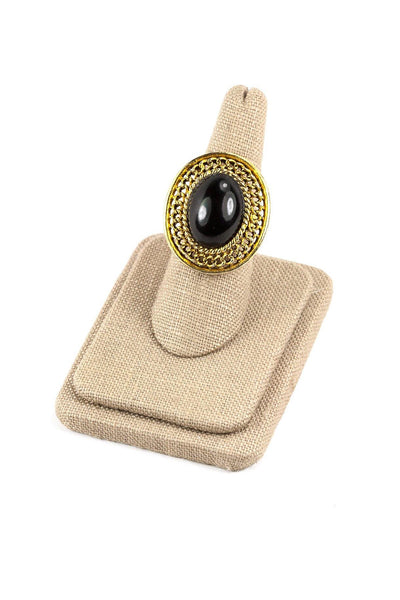 60's__Vintage__Adjustable Onyx Cocktail Ring