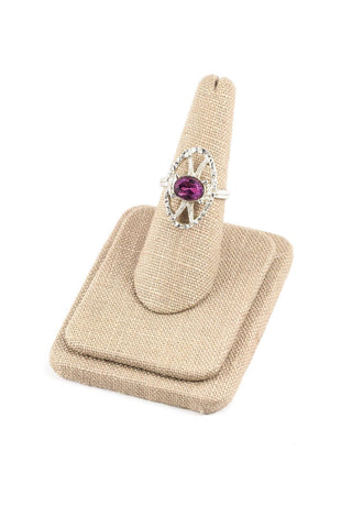70's__Sarah Coventry__Adjustable Amethyst Ring