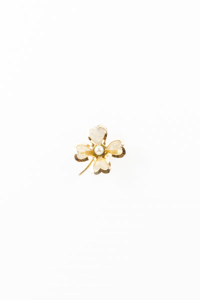 40's__Coro__Mini Shamrock Pearl Pin
