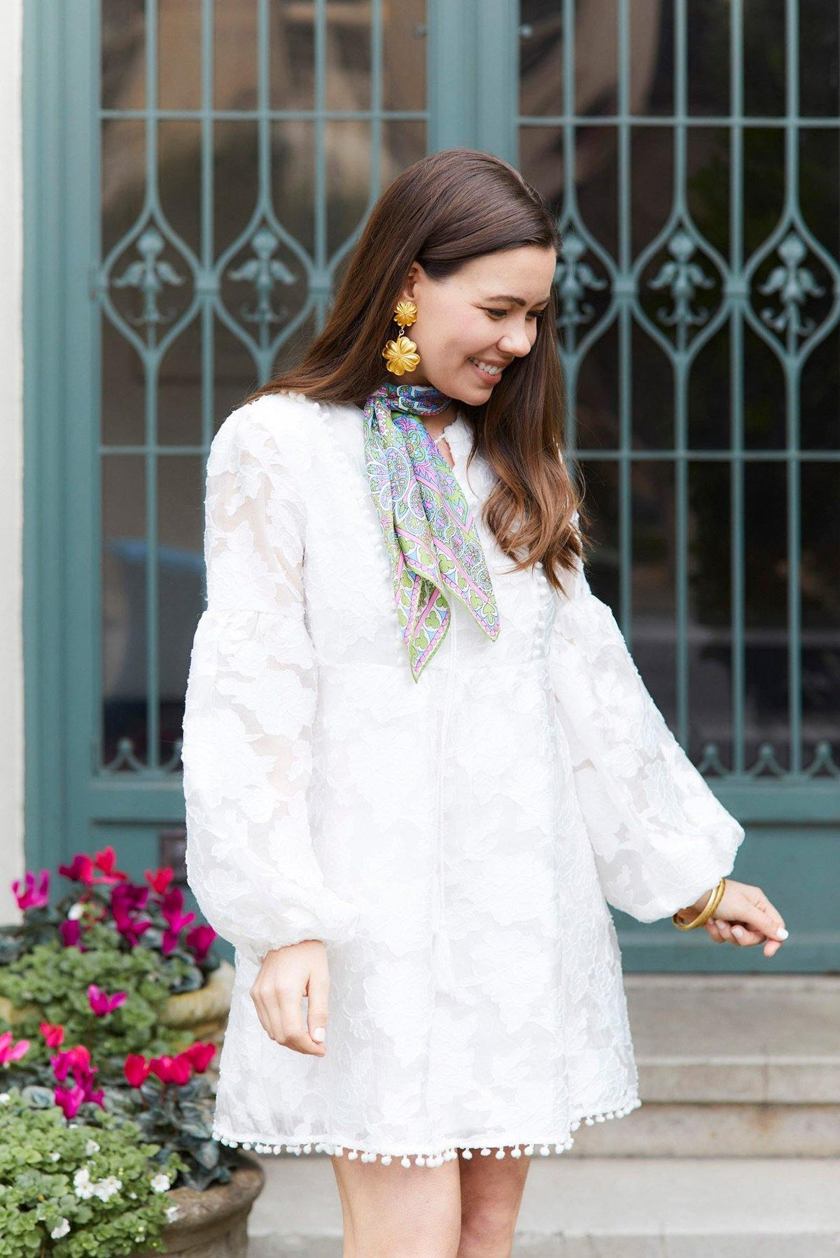Moon River White Rose Floral Tunic Dress From Sweet & Spark.