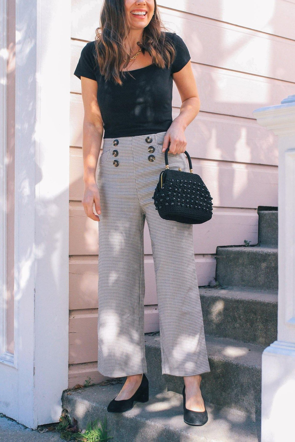 Sanctuary Marina Pant in Modern Check at Sweet & Spark