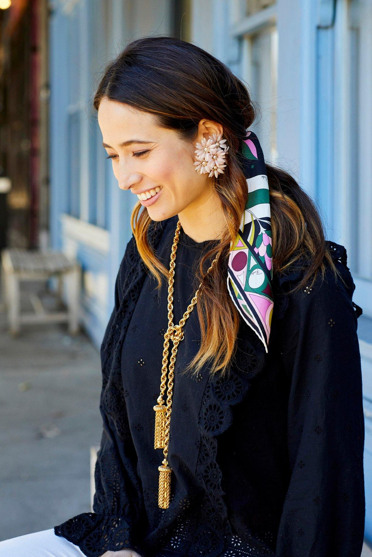 Oversized Pink Floral Clip-on Earrings