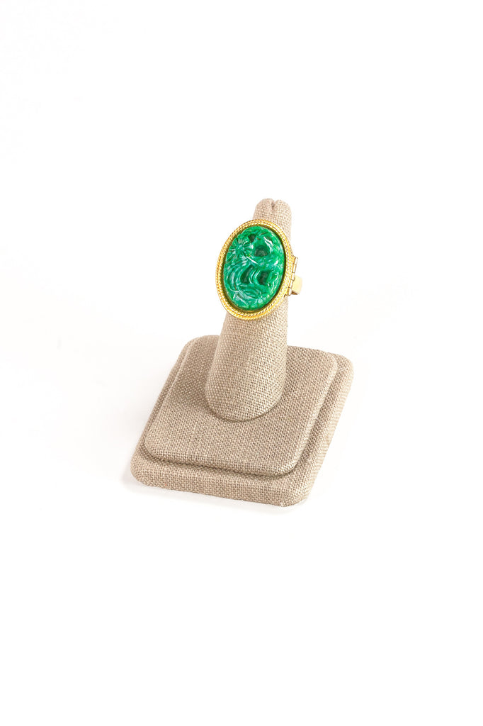 70's__Avon__Jade Locket Ring
