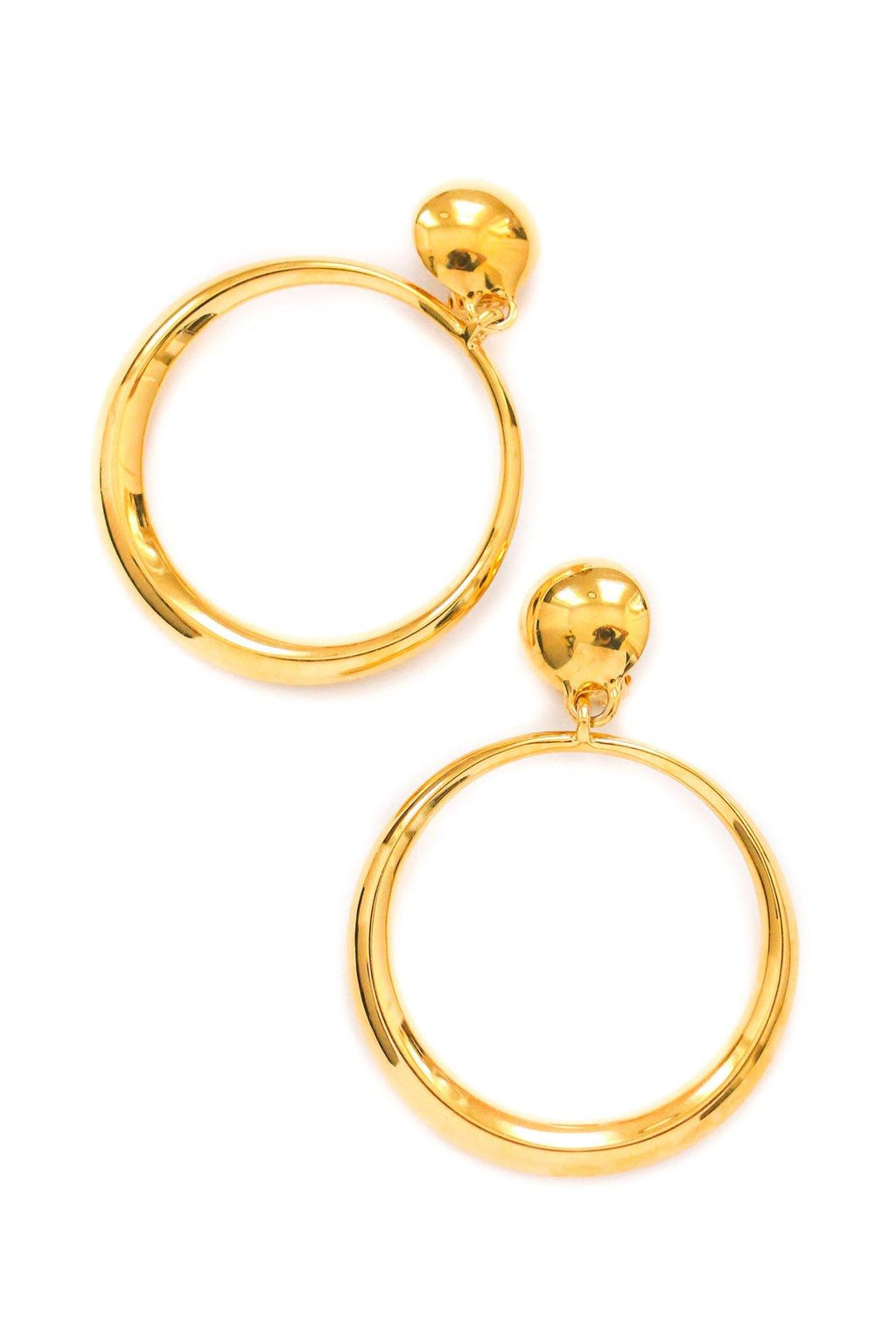 St. John Statement Hoop Clip-on Earrings