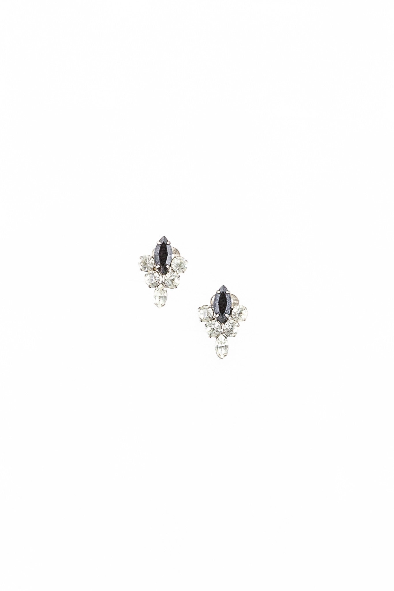 60's__Vintage__Deco Diamond Drop Earrings