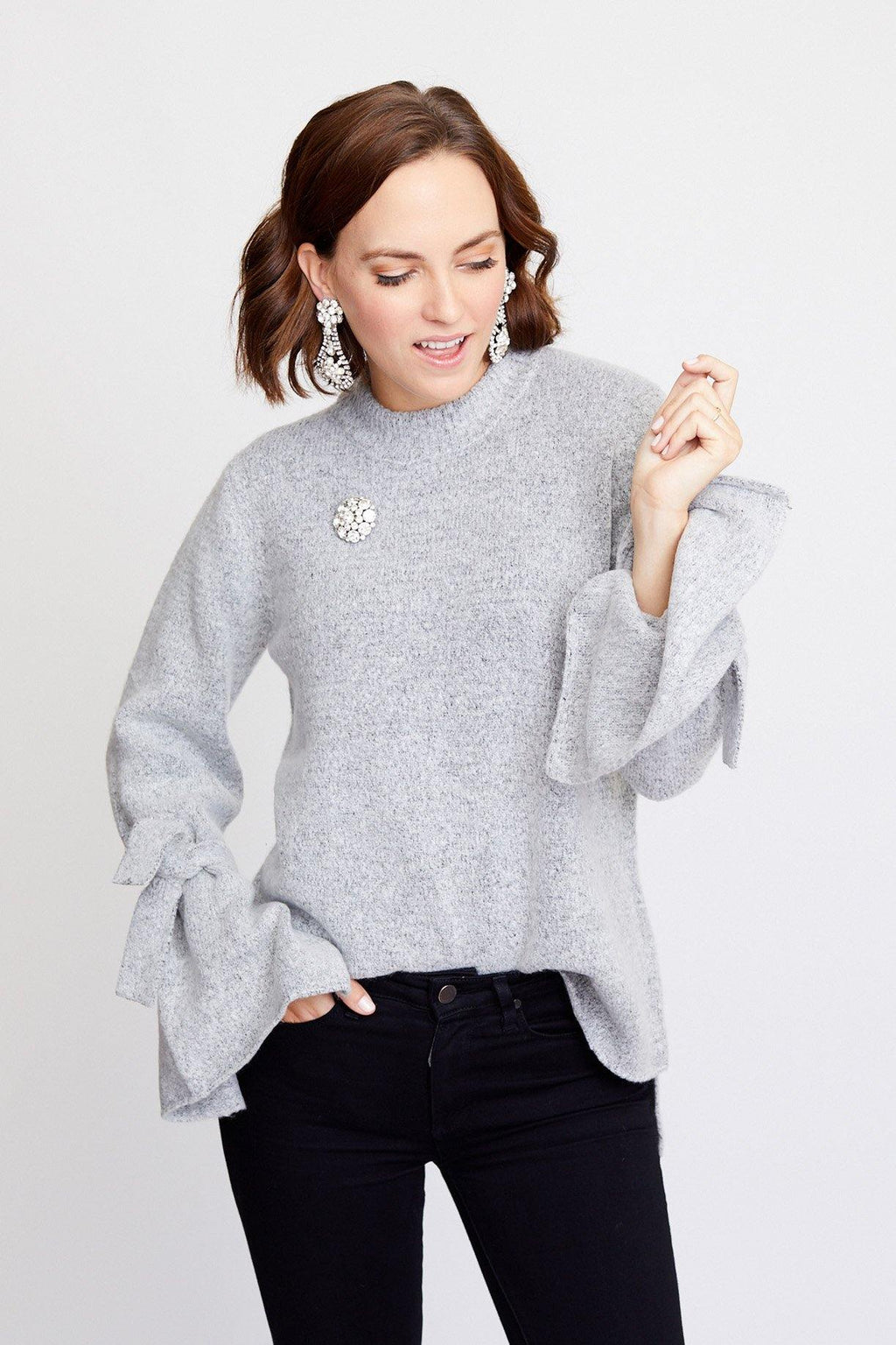 Tie Sleeve Sweater