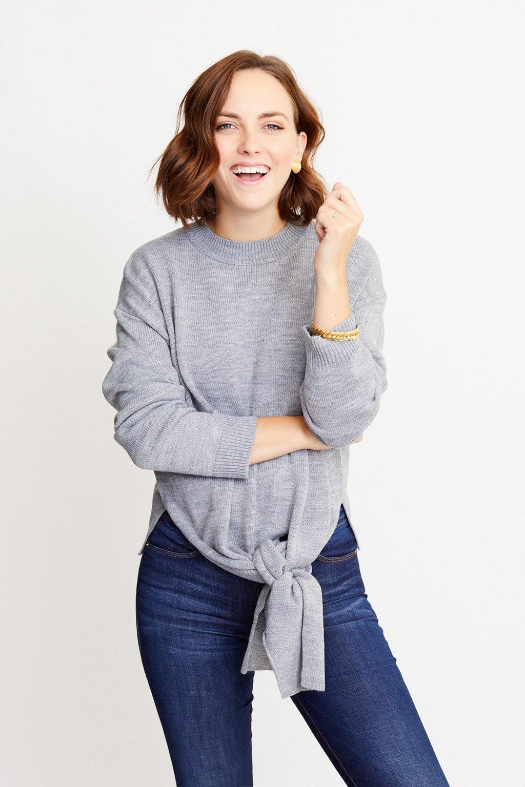 Front Tie Sweater