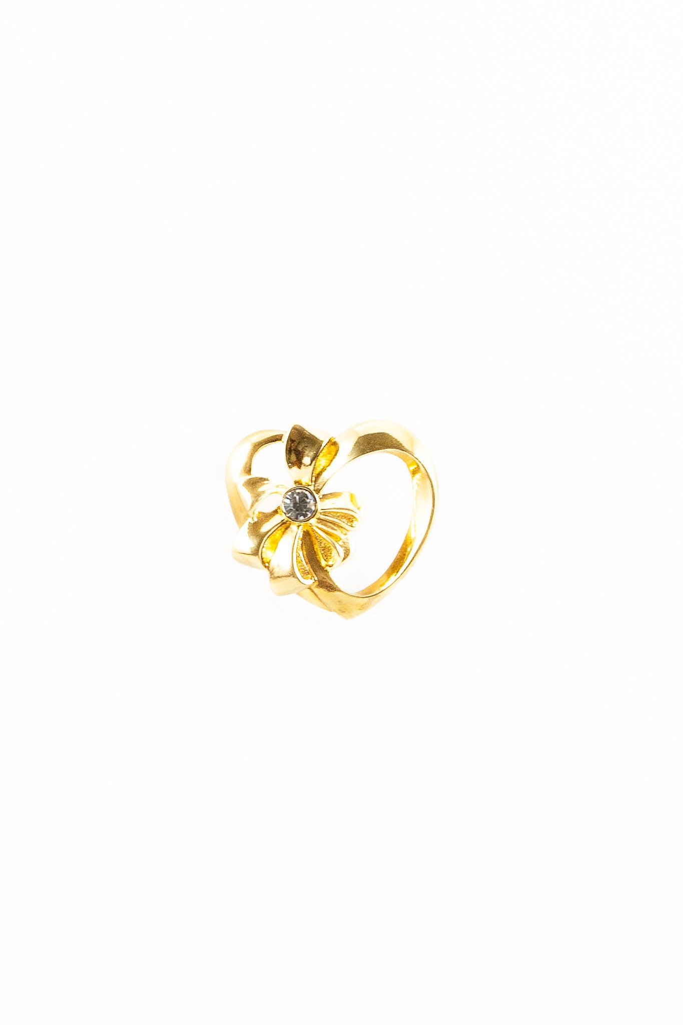 80's__Avon__Bow Heart Pin