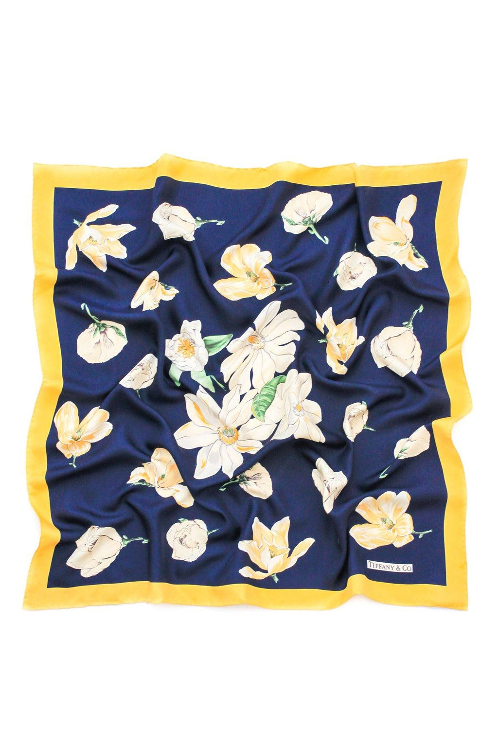 Tiffany & Co. Navy Florals Square Scarf