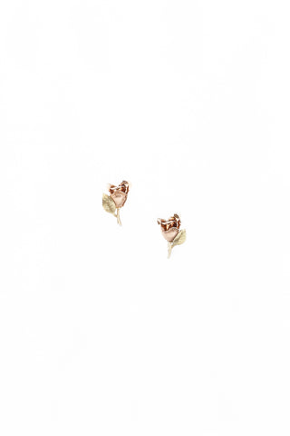 50's__Krementz__Rose Gold Floral Clips