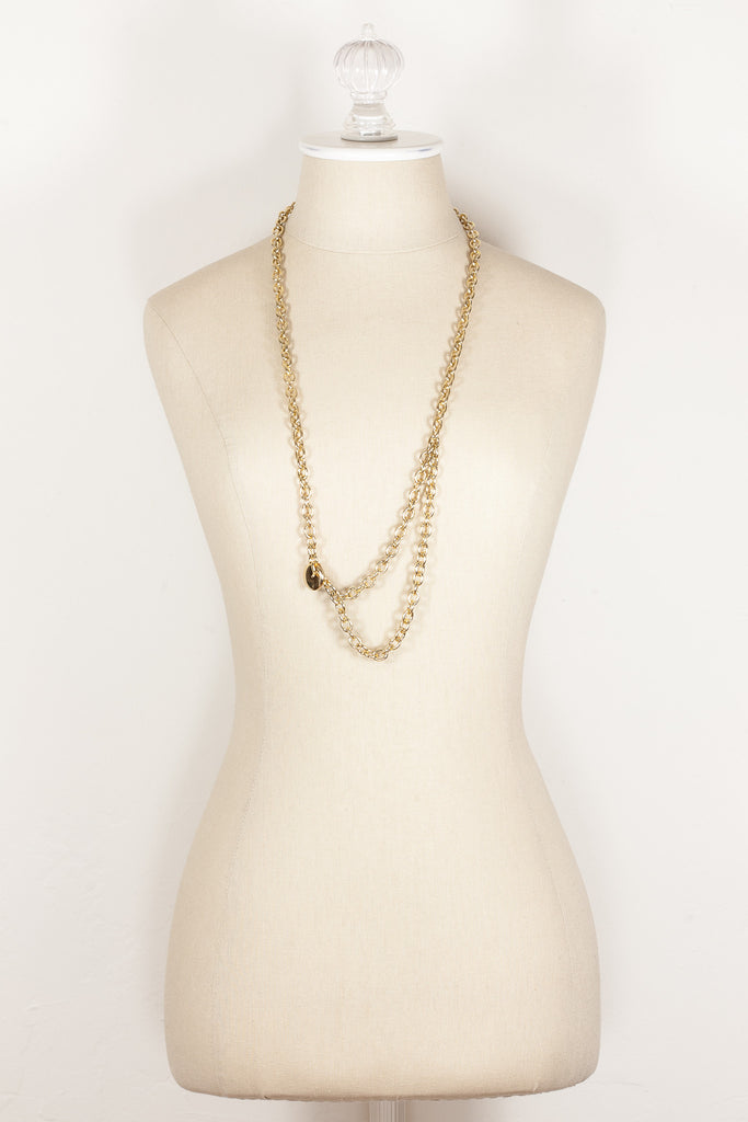 80's__Vintage__2 in1 Classic Chain Necklace