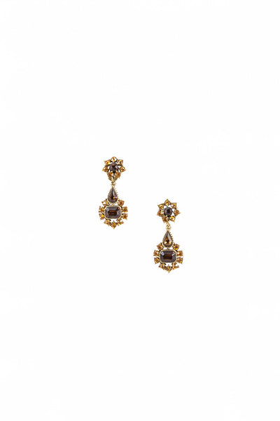50's__Vintage__Jewel Tone Rhinestone Earrings