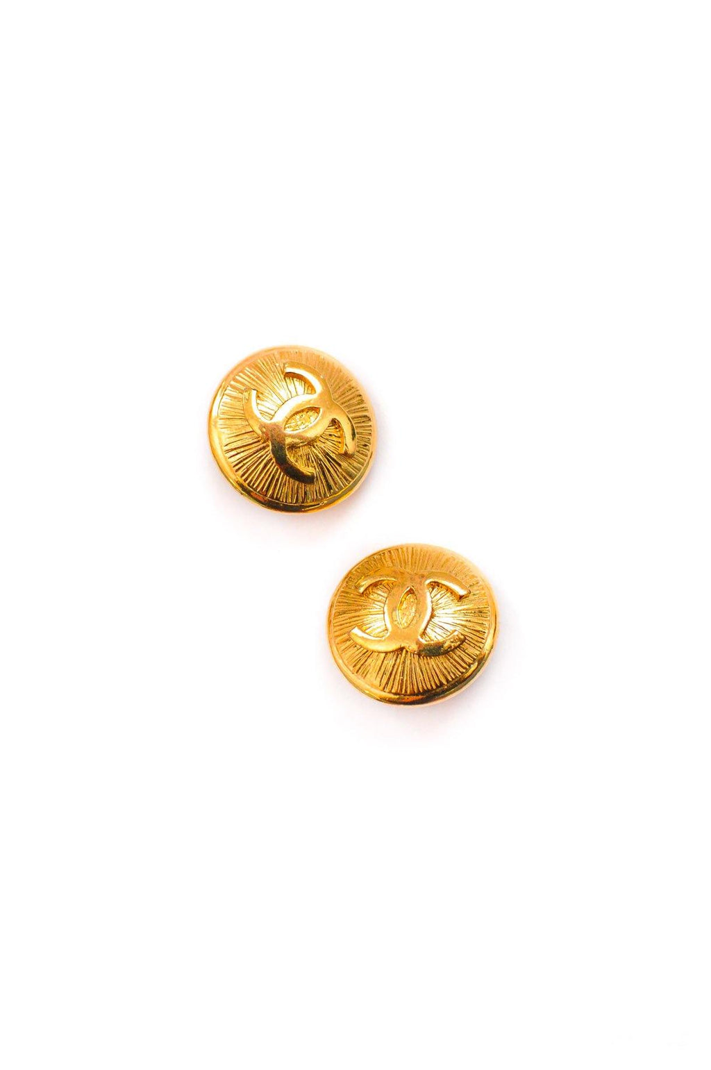 Chanel CC Coin Clip on Earrings