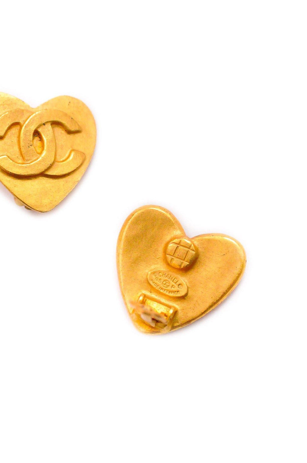 Chanel CC Heart Clip-on Earrings
