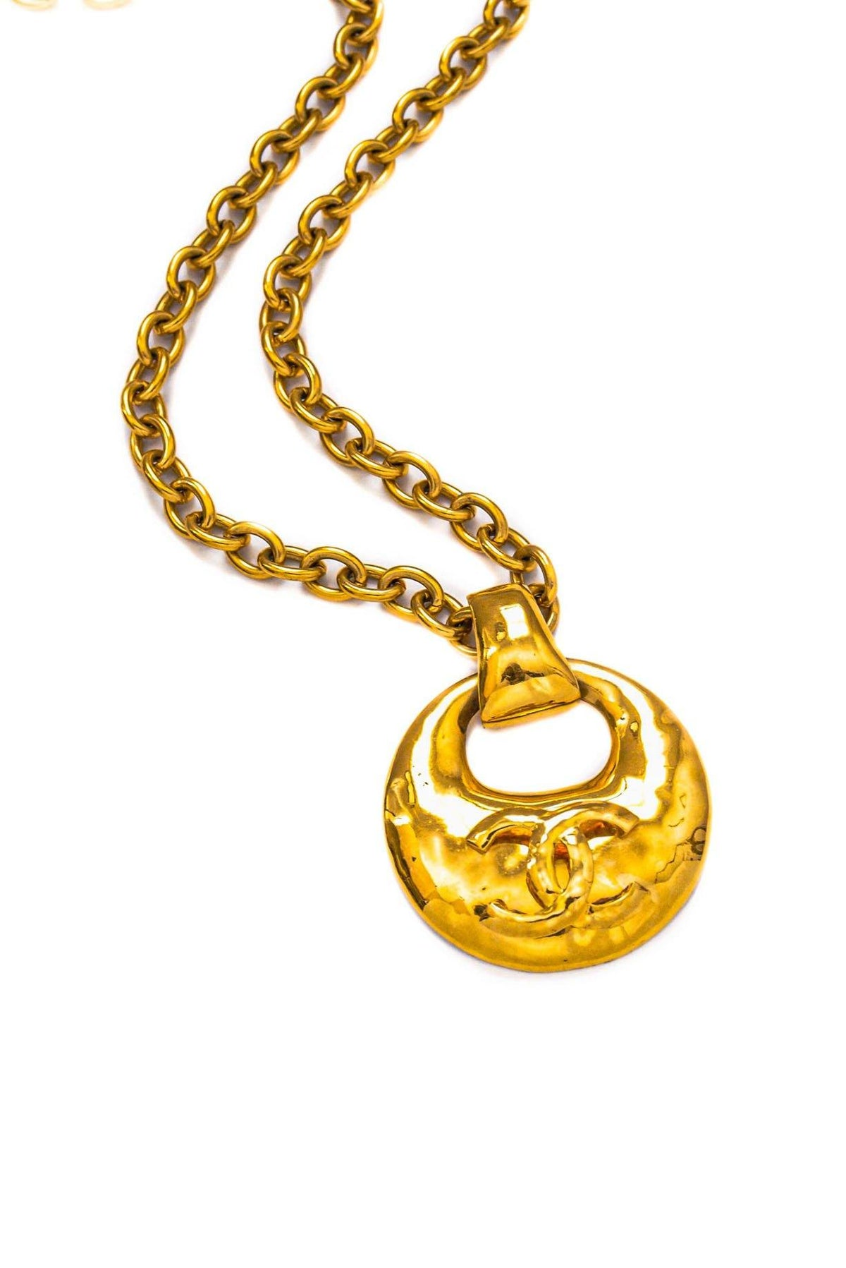 Vintage Chanel CC Statement Door Knocker Necklace from Sweet and Spark