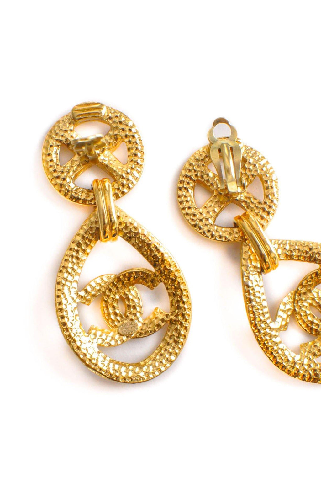 Chanel CC Teardrop Clip-on Earrings