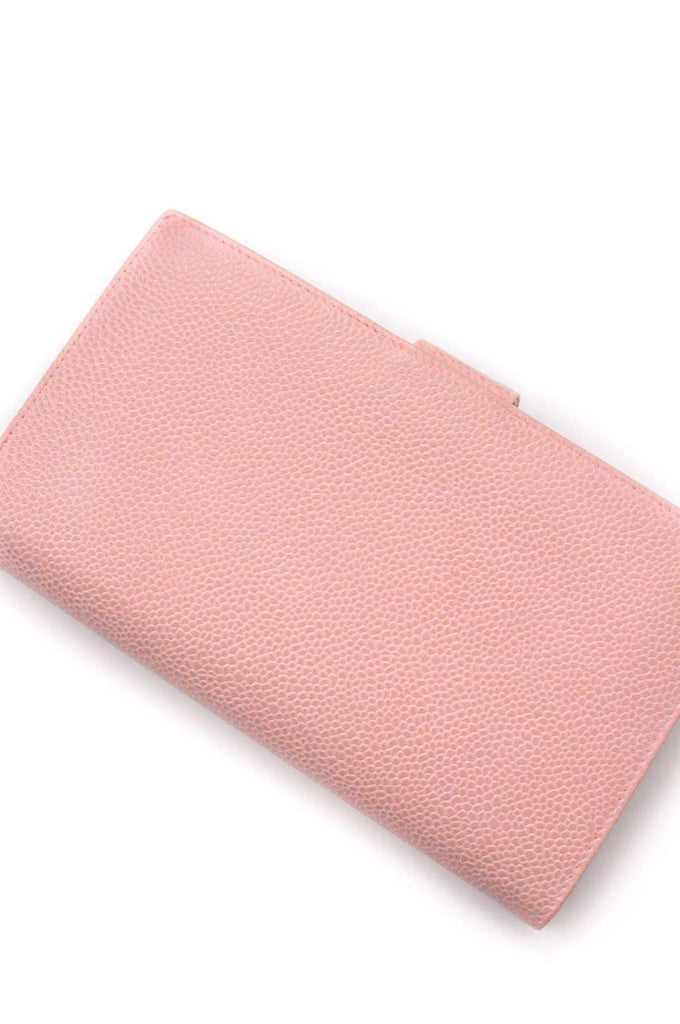 Chanel Pink Caviar Wallet