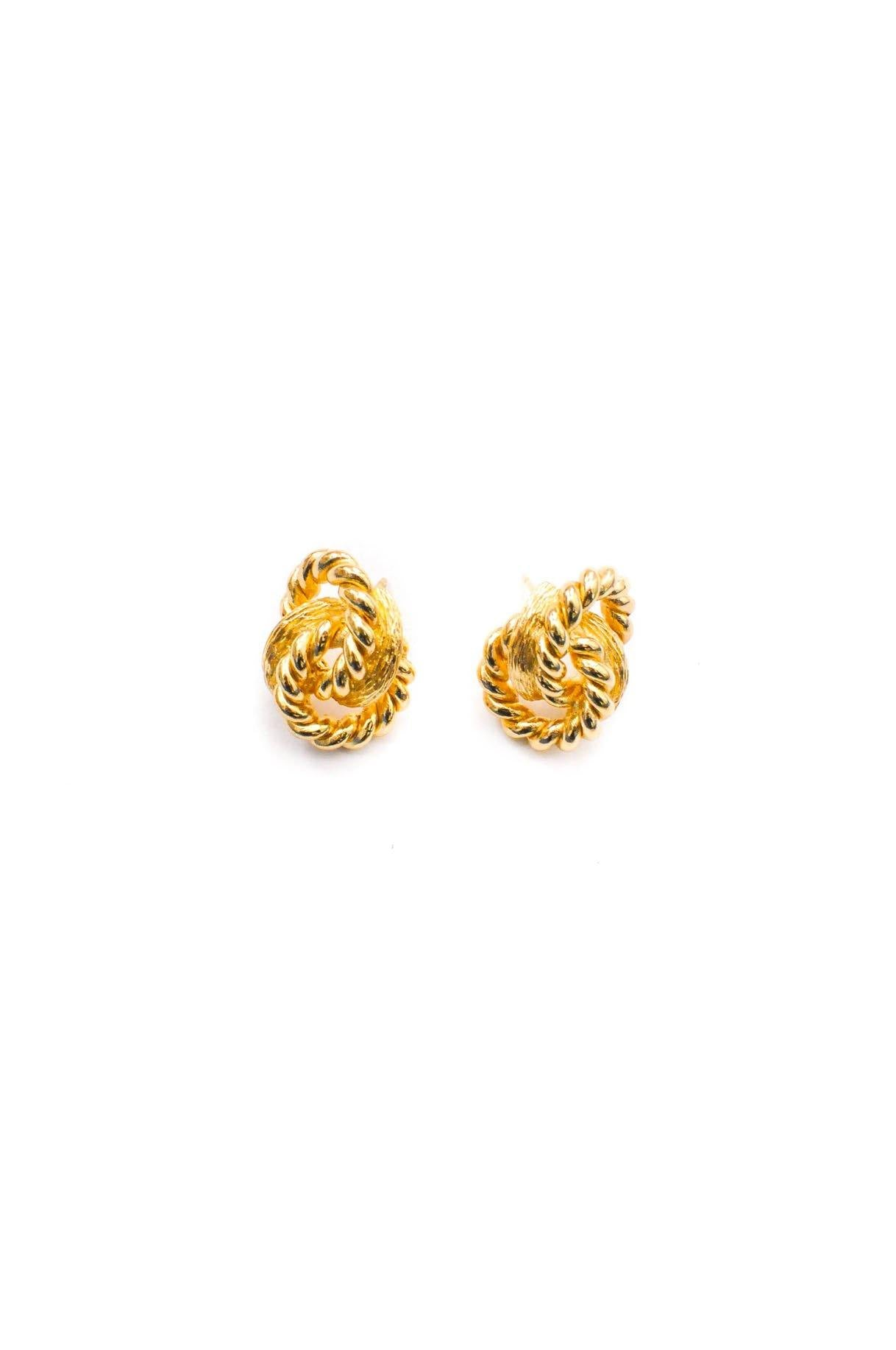 Vintage Christian Dior Knot Pierced Earrings from Sweet and Spark.