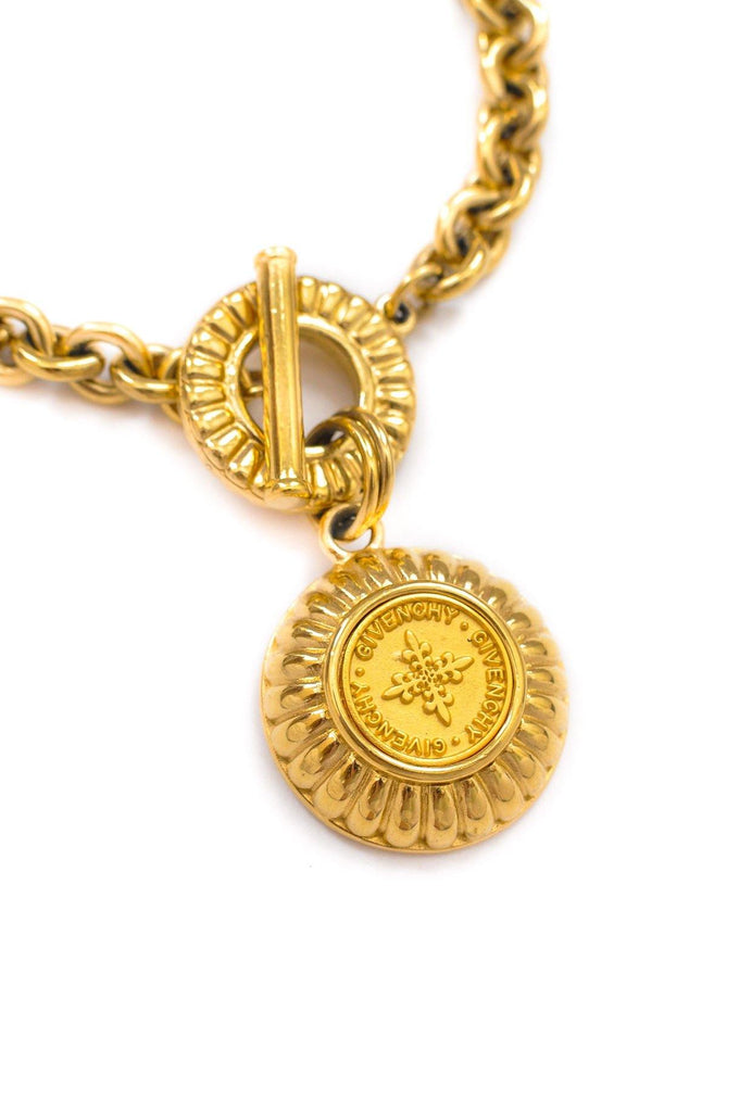 Givenchy Large Coin Pendant Necklace
