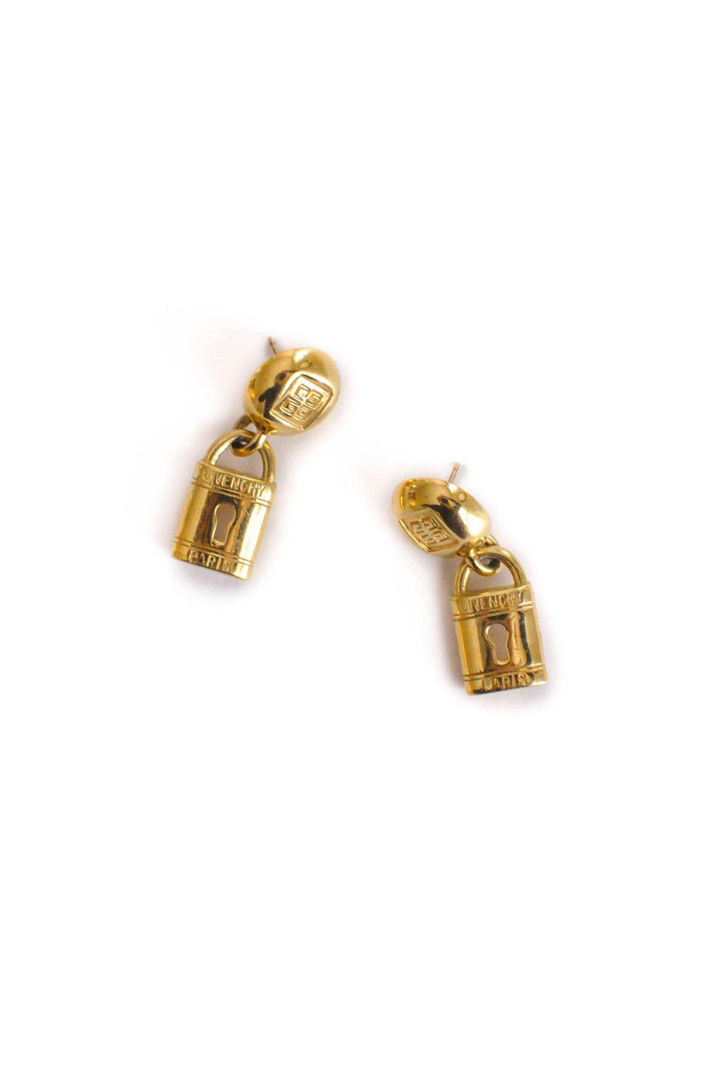 Givenchy Padlock Drop Pierced Earrings