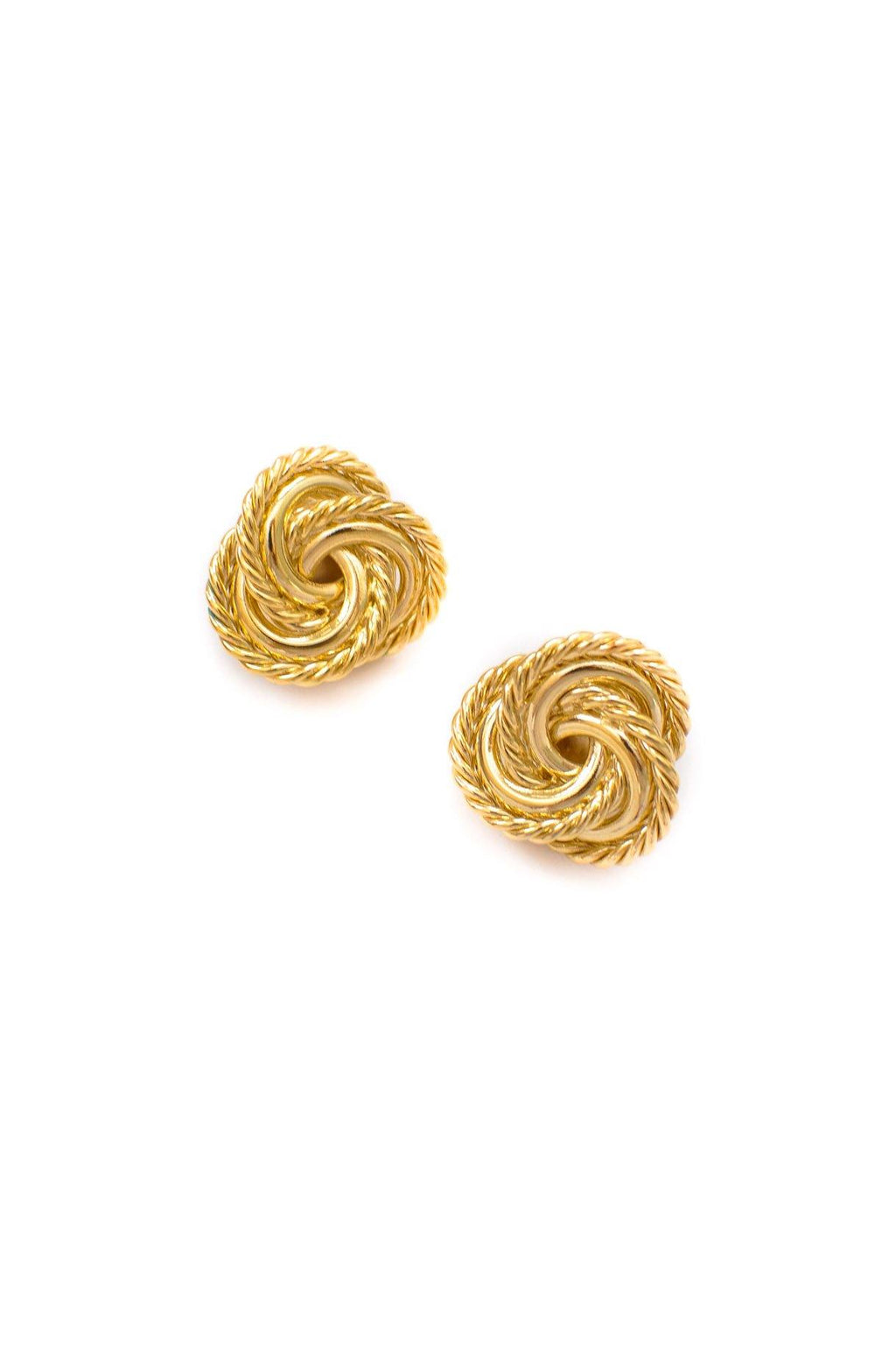 Givenchy Twisted Rope Clip on Earrings