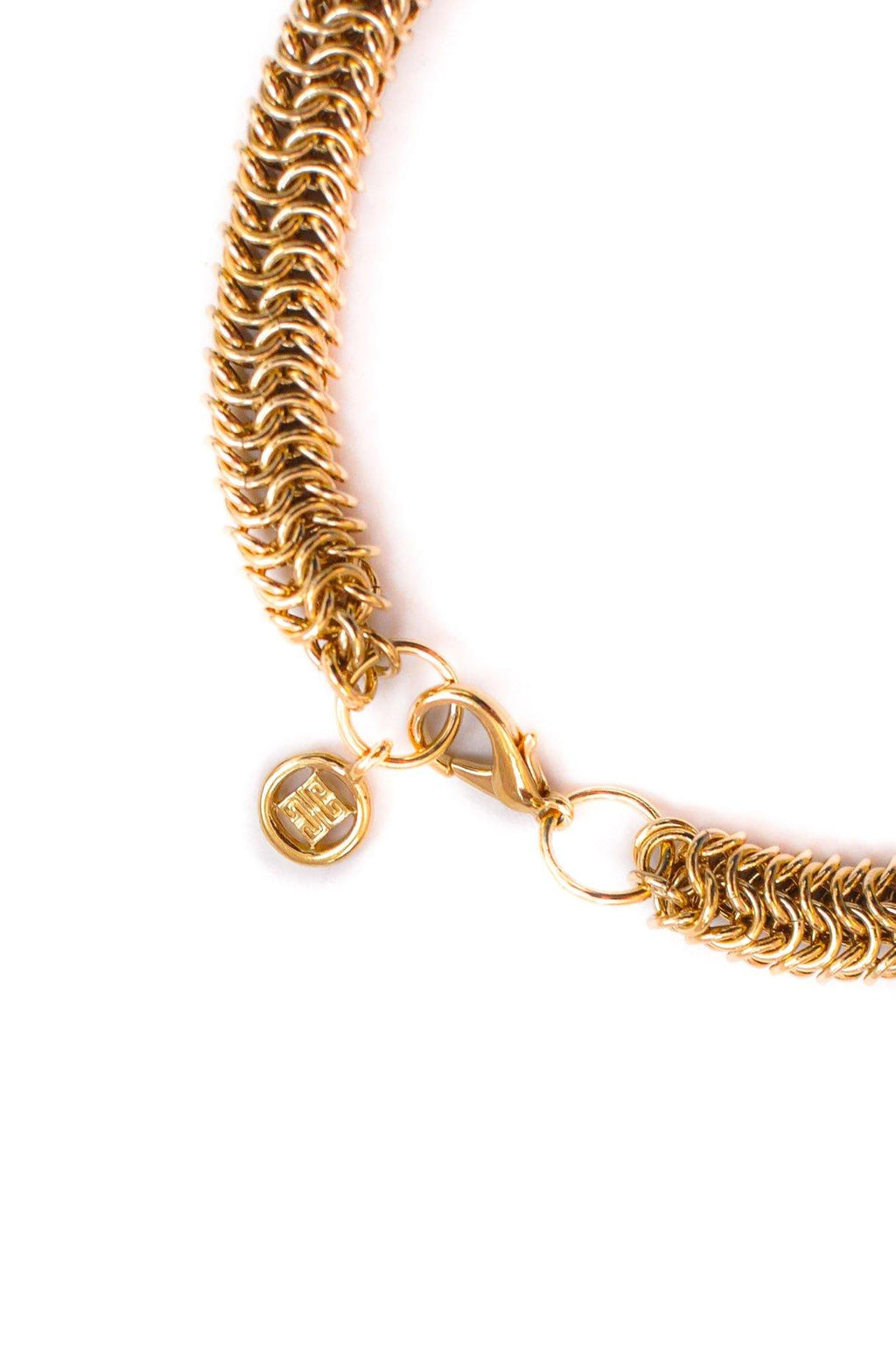 Givenchy Woven Chain Link Necklace