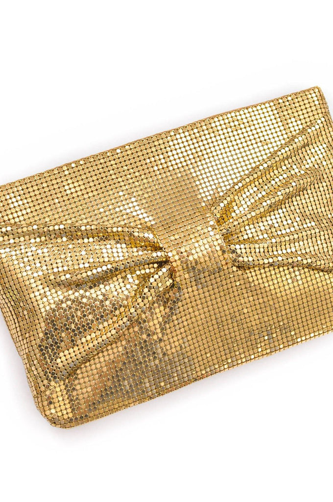 Gold Mesh Bow Clutch