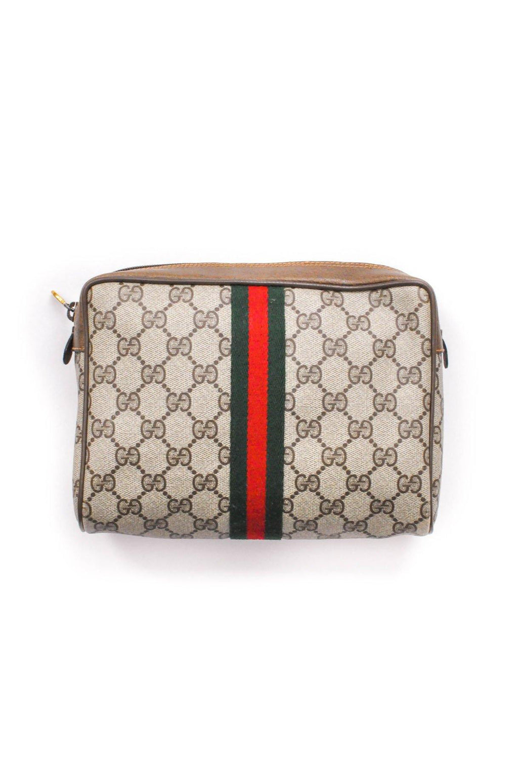 Gucci Monogram Stripe Clutch