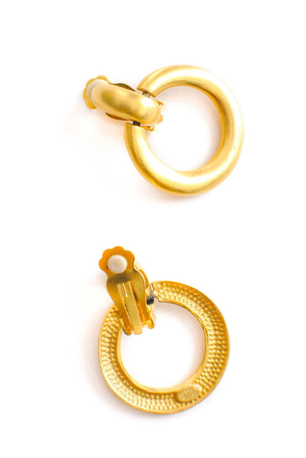 Kenneth Jay Lane Matte Clip-on Hoop Earrings