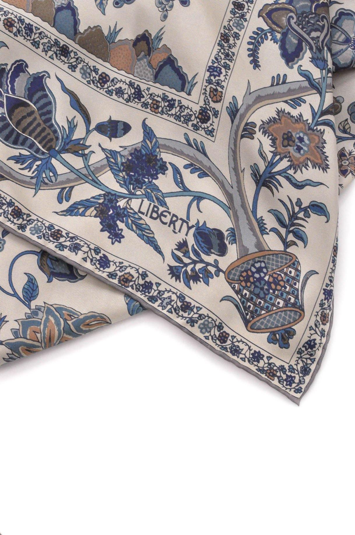Liberty of London Floral Blue Scarf