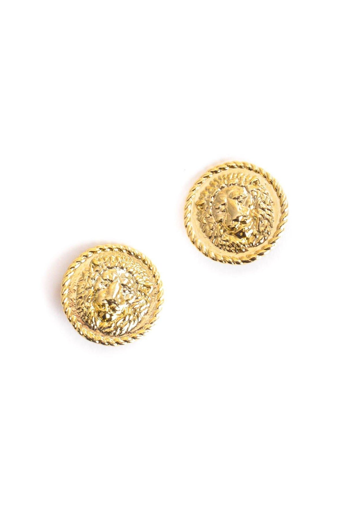 Vintage Lionhead Coin Clip-on Earrings from Sweet and Spark.