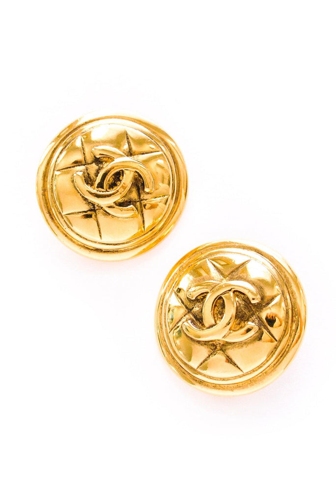 Chanel Quilted Clip-on Earrings