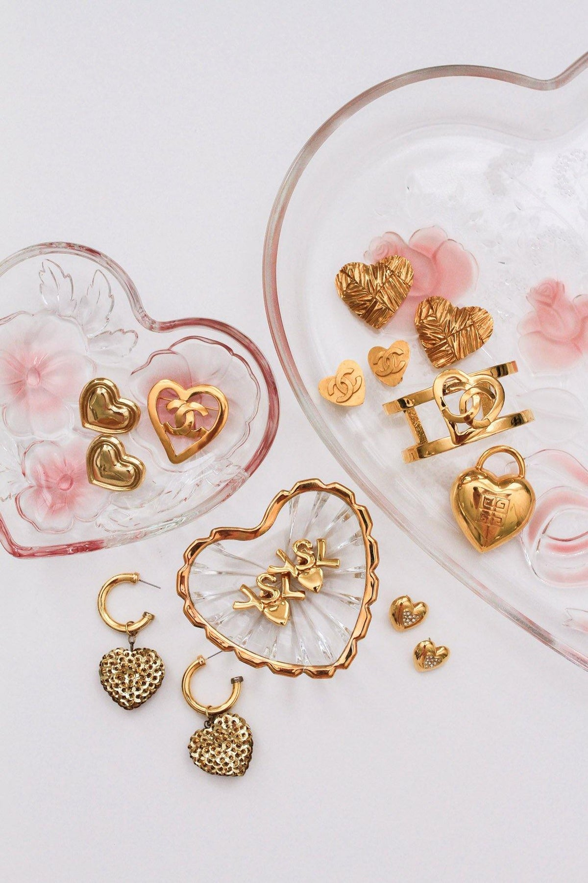 Statement Heart Clip-on Earrings - Sweet & Spark