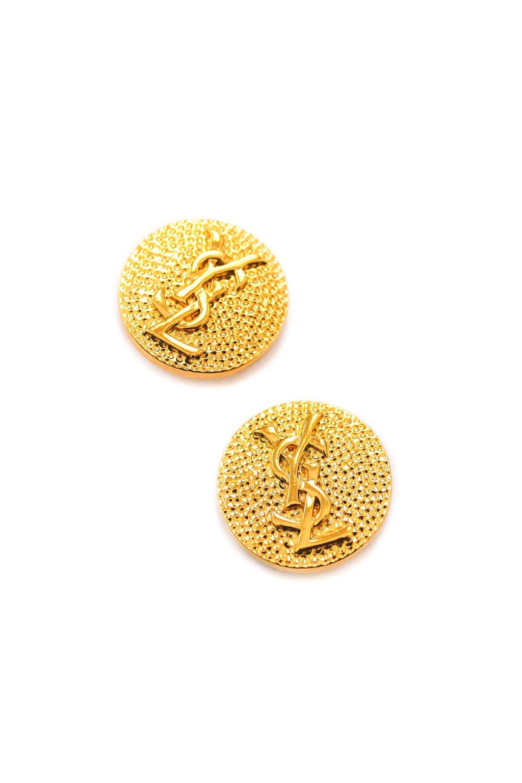 YSL Button Clip-on Earrings