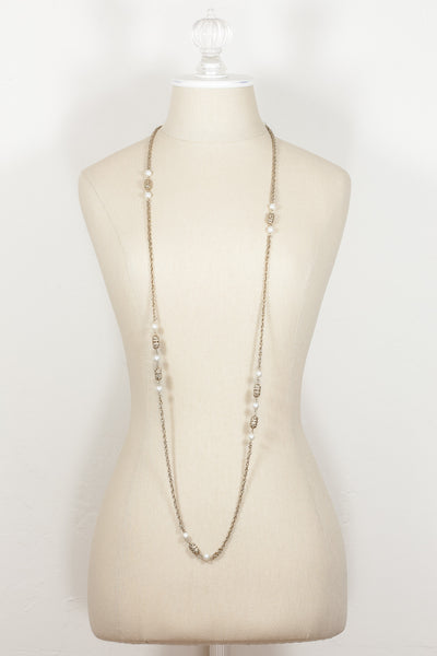 80's__Sarah Coventry__Gold & Pearl Chain