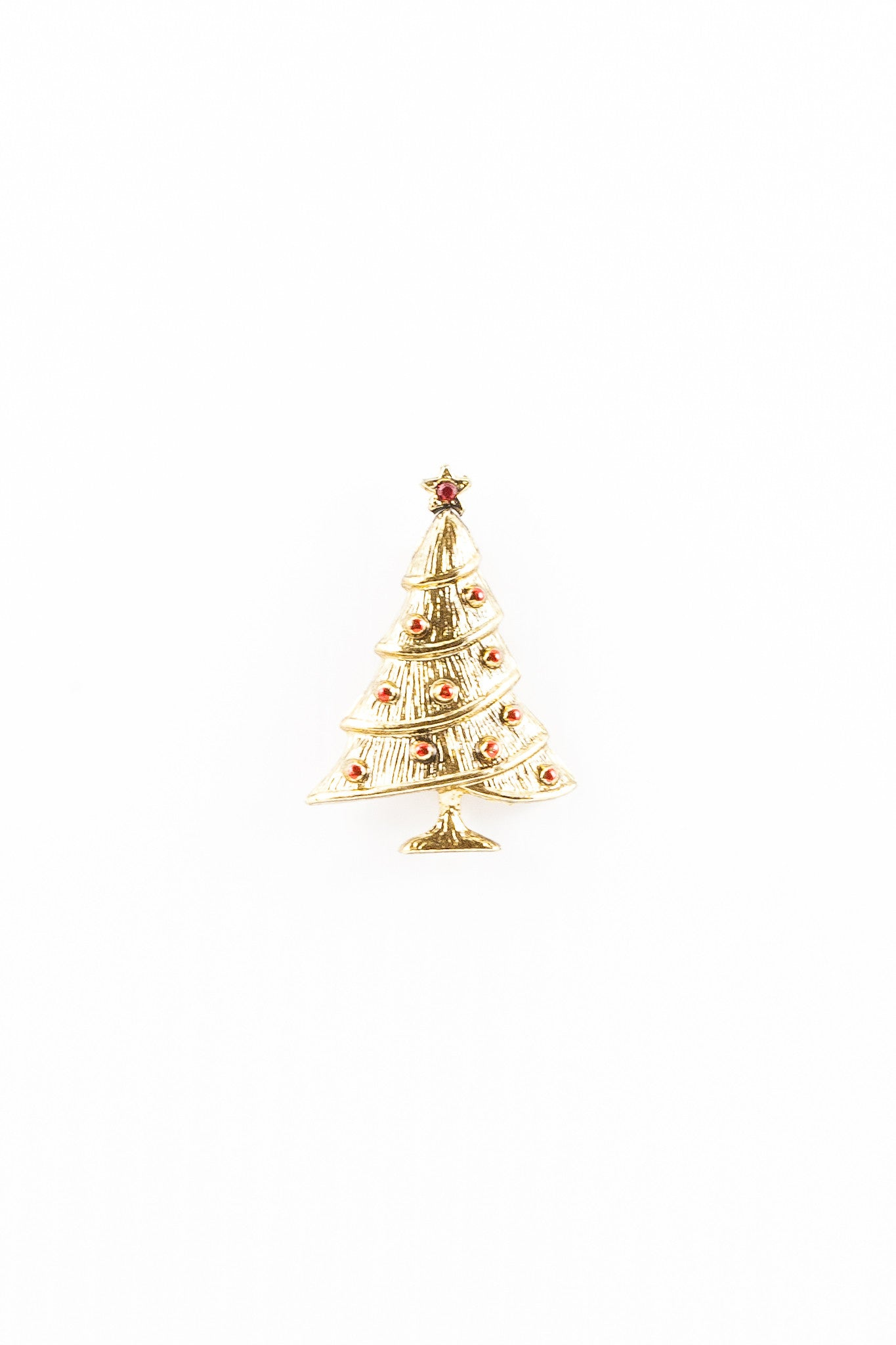 80's__Vintage__Jeweled Xmas Tree Brooch