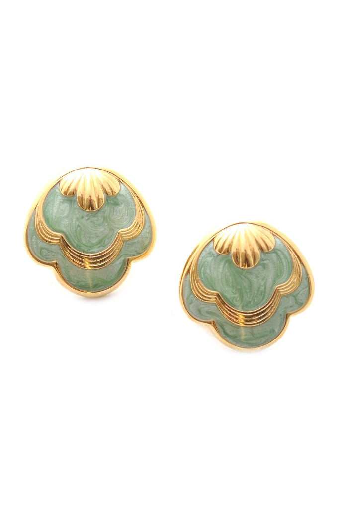 60s__Vintage__Shell Clip-On Earrings