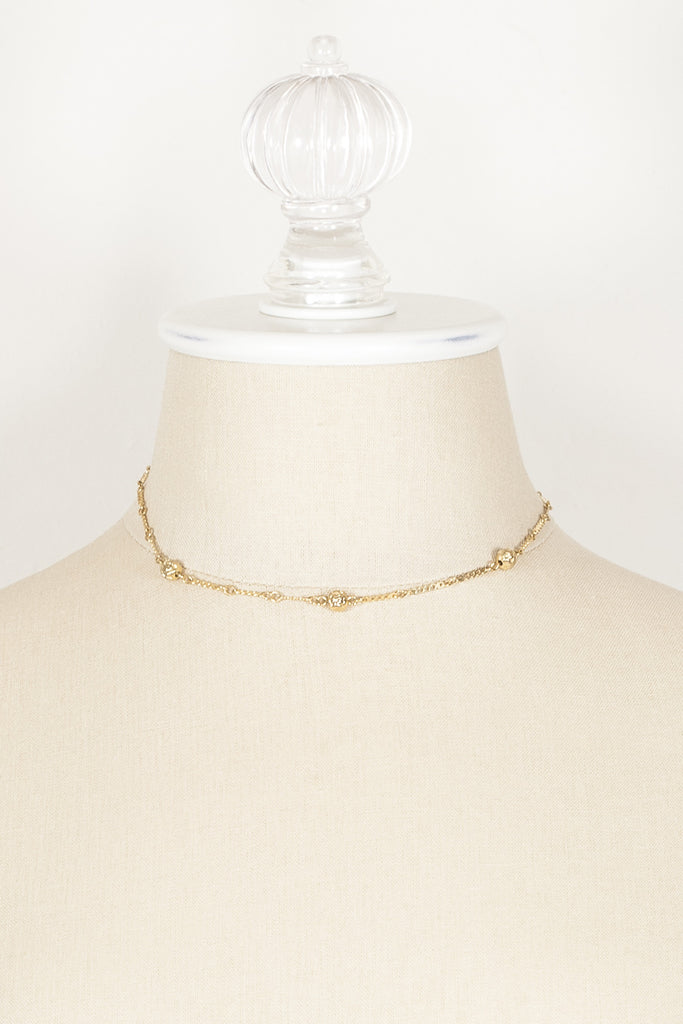 70's__Park Lane__Dainty Ball Charm Necklace