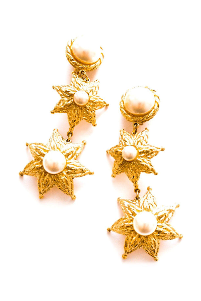 Balenciaga Pearl Drop Clip-on Earrings