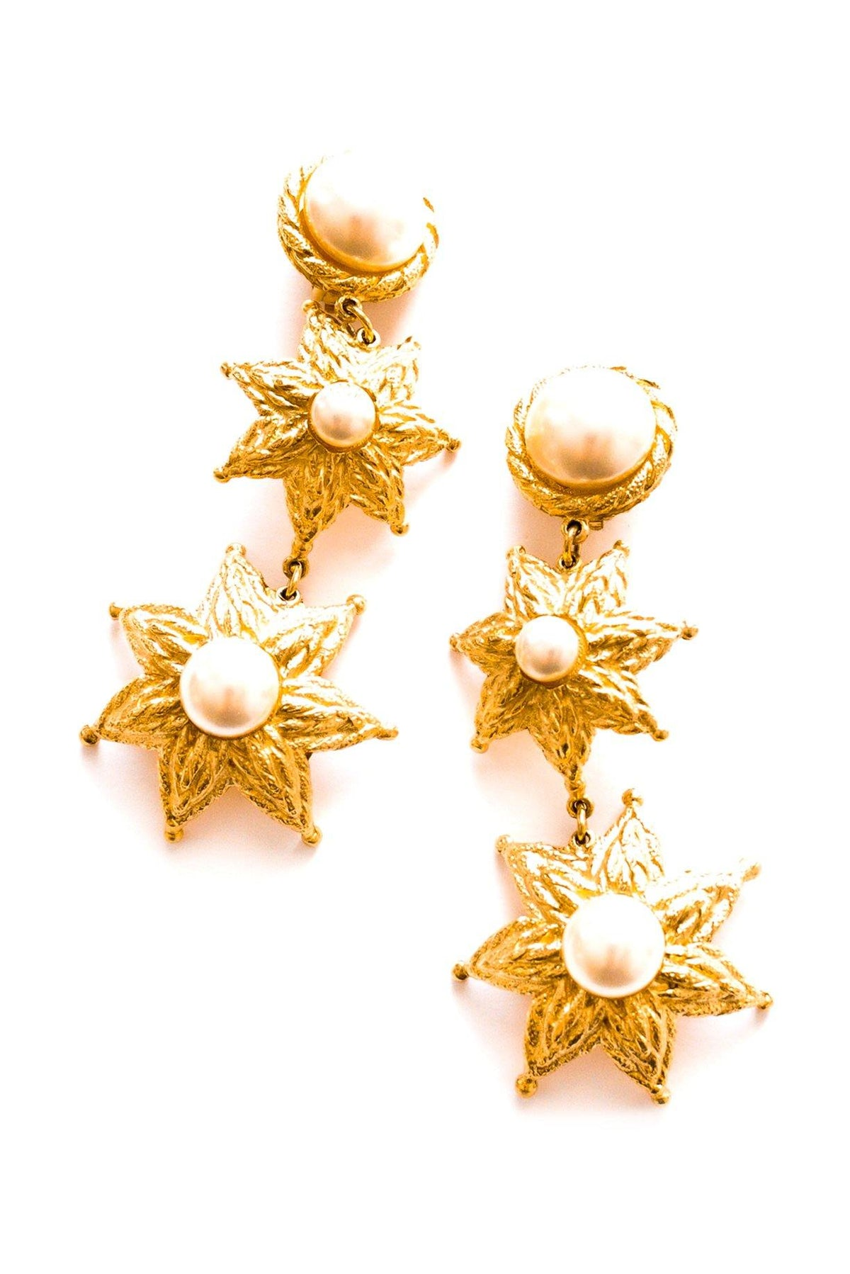 Vintage Balenciaga statement pearl drop earrings from Sweet & Spark.