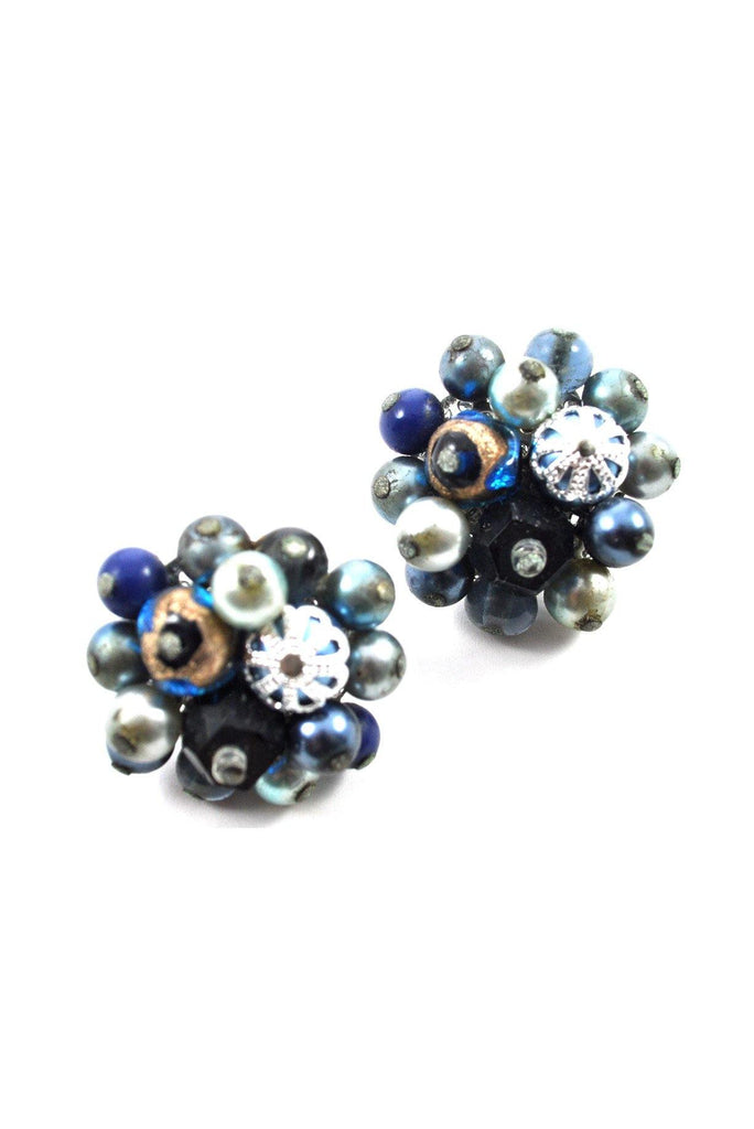 50's__Vintage__Cluster Clip-On Earrings