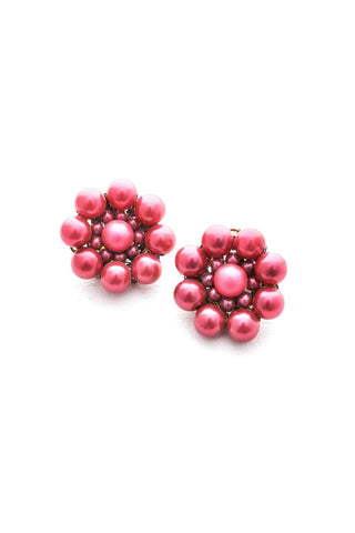 Maroon Bauble Clip-on Earrings