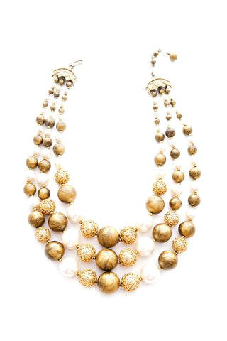 Layered Beaded Bauble Necklace