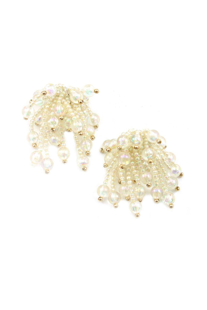 60s__Vintage__Statement Beaded Clip-On Earrings